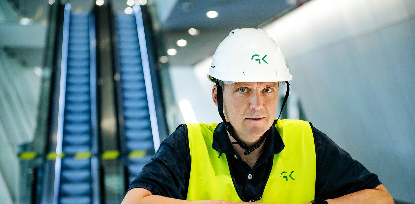Øystein Skjærholt er prosjektsjef i GK og har blant annet vært prosjektleder for arbeidet på Munchmuseet i Bjørvika